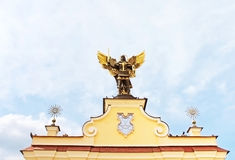 Monument of Angel in Kiev, independence square. Ukraine royalty free stock photo