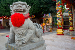 The monument of the animal in Chinese temple.Udon Thani, Thailand Royalty Free Stock Images