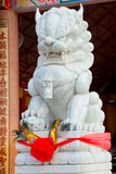 The monument of the animal in Chinese temple.Udon Thani, Thailand Royalty Free Stock Photos