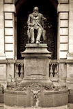 Monument, Antwerp. Hendrik Conscience, a famous Belgian writer of the 19th century stock image