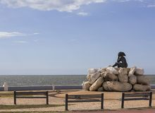 Monument appelé la jeune mariée de la mer image stock