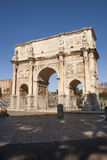 The monument Arch of Constantine in Rome. Is a reference point for sightseeing and is close to the Colosseum. The arch was erected to commemorate the victory of Royalty Free Stock Photo