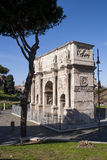 The monument Arch of Constantine in Rome. Is a reference point for sightseeing and is close to the Colosseum. The arch was erected to commemorate the victory of Stock Photos