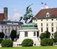Monument Archduke Charles on Heldenplatz in Vie Royalty Free Stock Photo