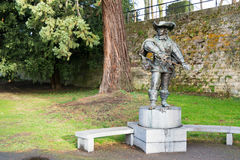 Monument of Artagnan in Maastricht, Netherlands Stock Images