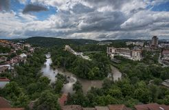 Veliko Turnovo, Panorama stock photography