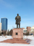 Monument Astafevu in Krasnoyarsk Stock Images