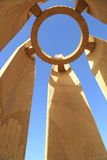 Monument of Aswan dam Royalty Free Stock Photo