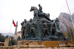 Monument of Ataturk. Monument on the main square of Amasya Stock Photo