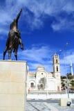 Ataturk and church Stock Photos