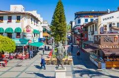 Monument of Attalos II Philadelphos in Antalya, Turkey Royalty Free Stock Image
