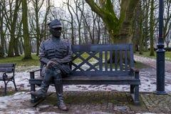 Monument au 'd'adysÅ de 'de WÅ aw Sikorski dans la ville du 'aw, Pologne - 26/01/2018 d'InowrocÅ Photos stock