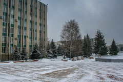 Monument au centre de la ville de Belgorod Photographie stock libre de droits