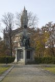 Monument au cimetière soviétique à Potsdam Image libre de droits