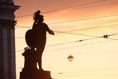 Monument au commandant Alexander Suvorov sur le Champ de Mars Établi en 1801 St Petersburg Russie Images libres de droits