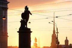 Monument au commandant Alexander Suvorov sur le Champ de Mars Établi en 1801 St Petersburg Russie Photos stock