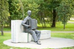 Monument au compositeur Raimond Valgre Images libres de droits