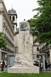 Monument au General de Beylie, Victor Hugo Square, Grenoble royalty free stock image