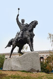Monument au hetman Sahaidachny de cosaque kiev Image stock