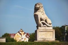 Monument au lion à Lublin, Pologne Photo libre de droits