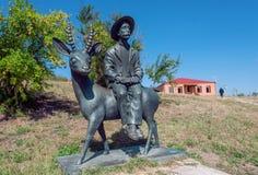 Monument au peintre géorgien célèbre Niko Pirosmani dans le village où il a vécu des dernières années sa vie, la Géorgie Photo libre de droits