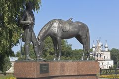 Monument au poète Konstantin Nikolayevich Batiushkov dans Vologda Image stock