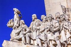 Monument au port du Tage Belem Lisbonne d'explorateurs de Diiscoveries photographie stock