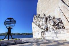 Monument au port du Tage Belem Lisbonne d'explorateurs de Diiscoveries image libre de droits