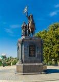 Monument au prince Vladimir et St Fedor Images libres de droits