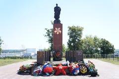Monument au soldat de libérateur Images libres de droits
