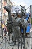Monument au tram de cheval - au premier tram St Petersburg Photo libre de droits
