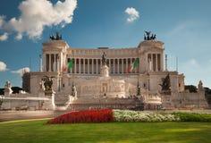 Monument au vainqueur Emmanuel II, Rome Image libre de droits