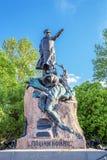 Monument au vice-amiral d'escadre Makarov dans Kronstadt, Russie Images libres de droits