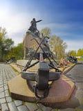 Monument au vice-amiral d'escadre russe Makarov sur le ploschad de Yakornaya et le x28 ; Square& x29 d'ancre ; en Kronstadt, 1913 Photos stock