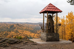 Monument auf dem Berg Lizenzfreies Stockbild