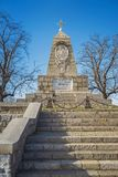Monument auf dem Hügel der Befreier in Plowdiw 1 stockfotos