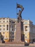 Monument auf der Stadt des zentralen Platzes von Wladiwostok Lizenzfreie Stockfotografie