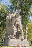 Monument auf Mamaev-Hügel in Wolgograd Lizenzfreie Stockfotos