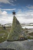 Monument auf Straße 55 Norwegen Lizenzfreies Stockbild