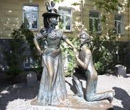 Monument aux caractères de la comédie pour deux lièvres. Kiev Photo libre de droits