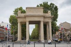 Monument aux Combattants de la Haute Garonne. TOULOUSE, FRANCE - JULY 21, 2014: Monument Aux Combattants de la Haute Garonne is located on Allee Forain Francois Royalty Free Stock Photo