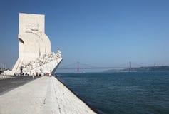 Monument aux découvertes, Lisbonne Images libres de droits