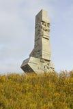 Monument aux défenseurs de la côte polonaise chez Westerplatte, Pologne Image libre de droits
