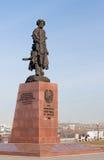 Monument aux fondateurs d'Irkoutsk. La Russie. Image libre de droits
