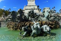 Monument aux Gironde, Bordeaux, Frankrijk Stock Fotografie