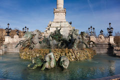 Monument aux girondins, Bordeaux Stock Image
