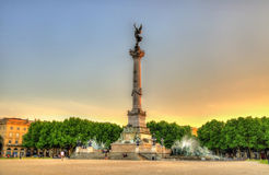 Monument aux Girondins on the Quinconces square. In Bordeaux Stock Photography