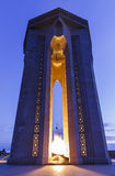 Monument aux héros au lever de soleil bakou l'azerbaïdjan Photo libre de droits