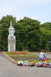 Monument aux marins soviétiques qui ont pris la forteresse allemande Pillau, Baltiysk moderne, Russie photos stock