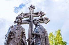Monument aux saints Peter et Fevronia - les patrons du mariage et famille, Veliky Novgorod, Russie Photos libres de droits
